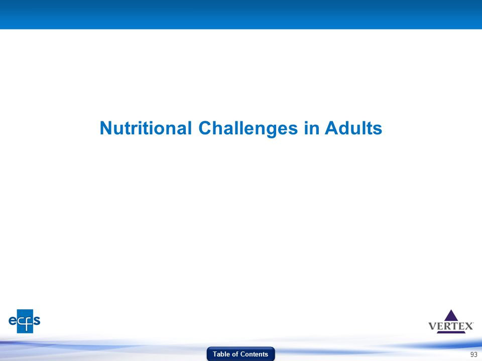 Nutritional Challenges in Adults