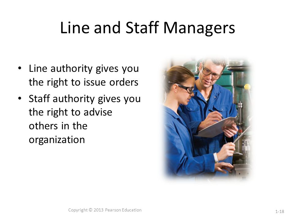 Line and Staff Managers