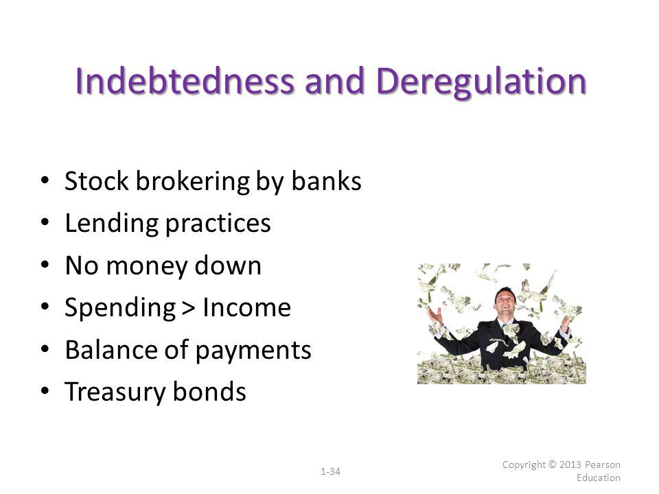 Indebtedness and Deregulation