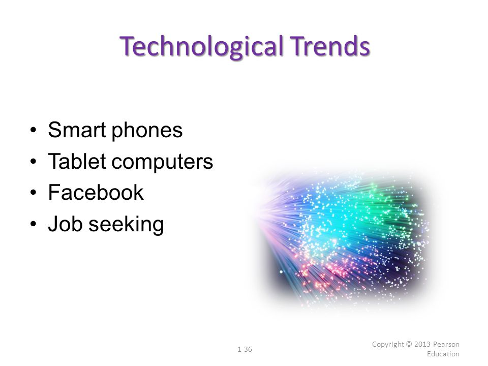 Technological Trends Smart phones Tablet computers Facebook