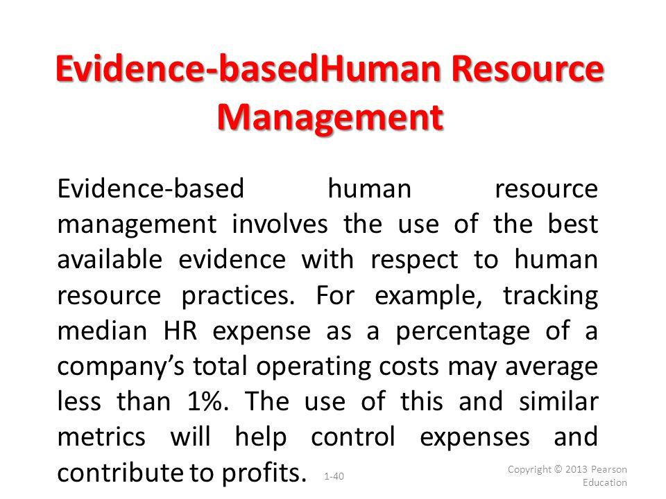Evidence-basedHuman Resource Management