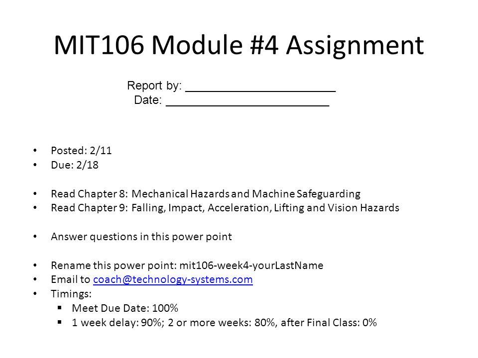 MIT106 Module #4 Assignment