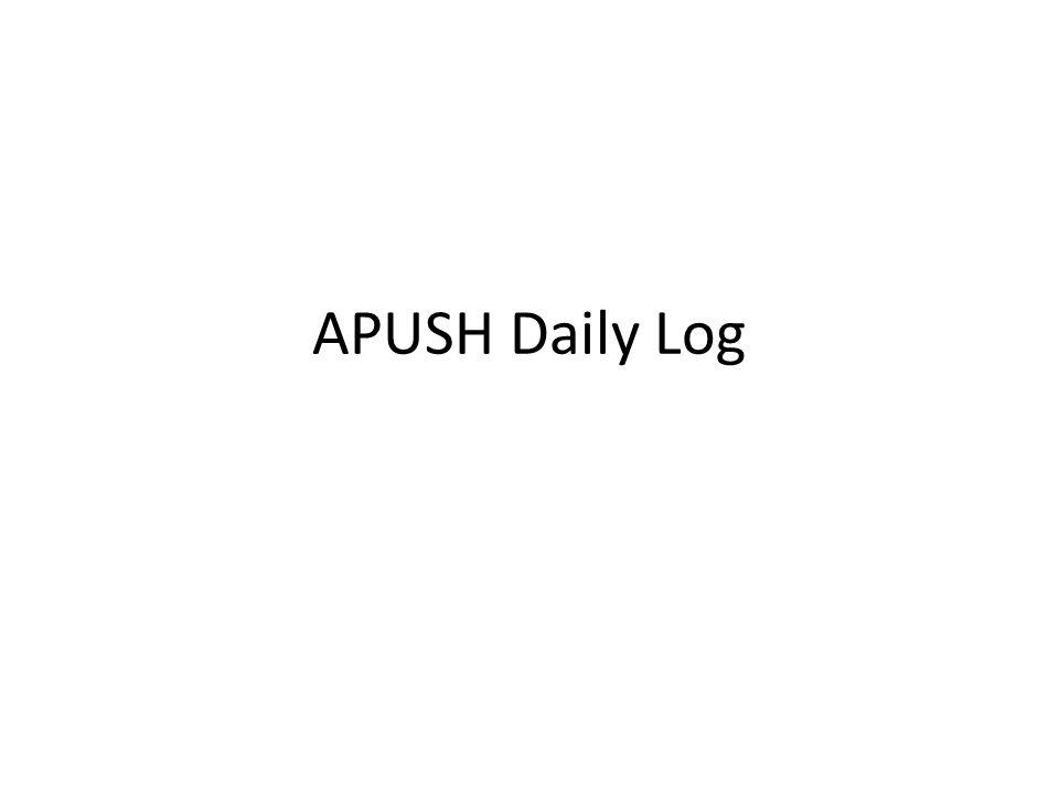 APUSH Daily Log