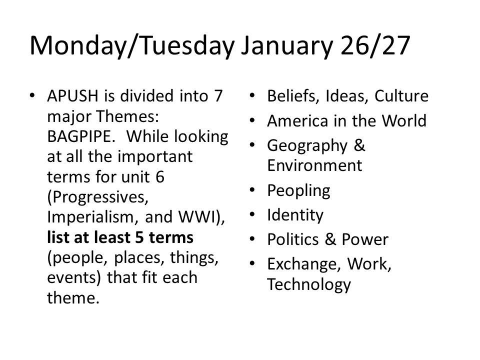 Monday/Tuesday January 26/27