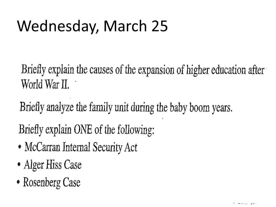 Wednesday, March 25