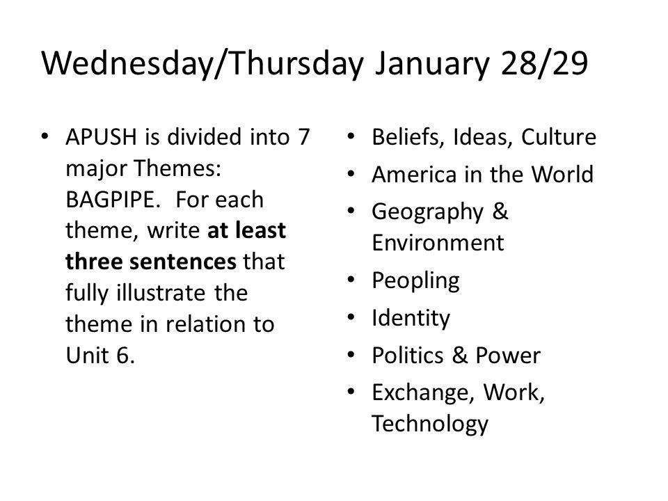 Wednesday/Thursday January 28/29