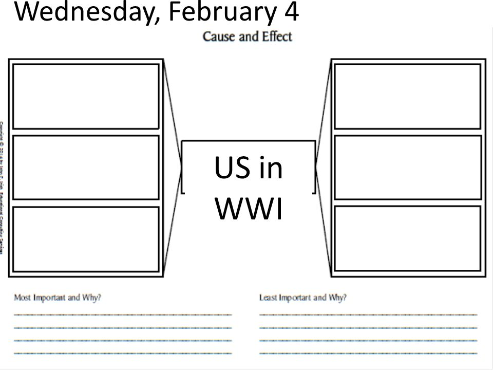 Wednesday, February 4 US in WWI