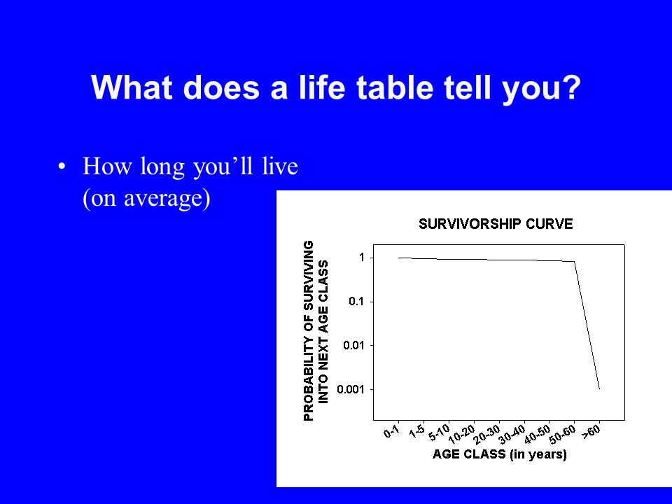 What does a life table tell you