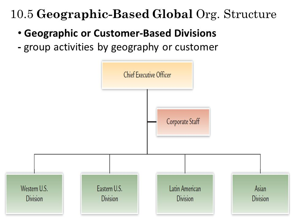 10.5 Geographic-Based Global Org. Structure
