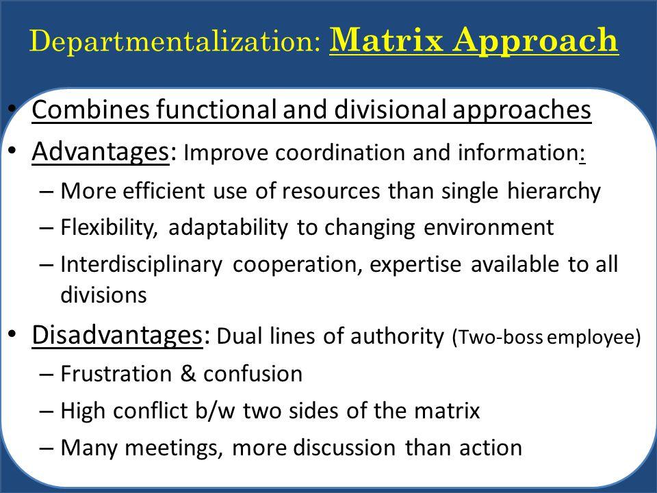 Departmentalization: Matrix Approach