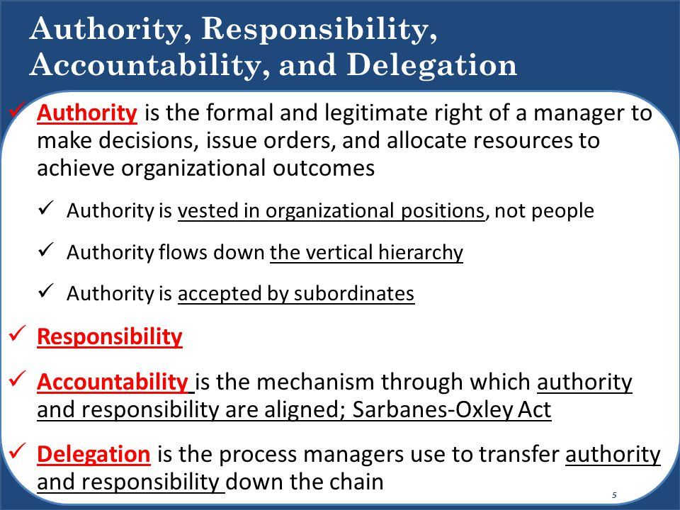 Authority C Responsibility C Accountability C And Delegation on Sample Organizational Structure Chart