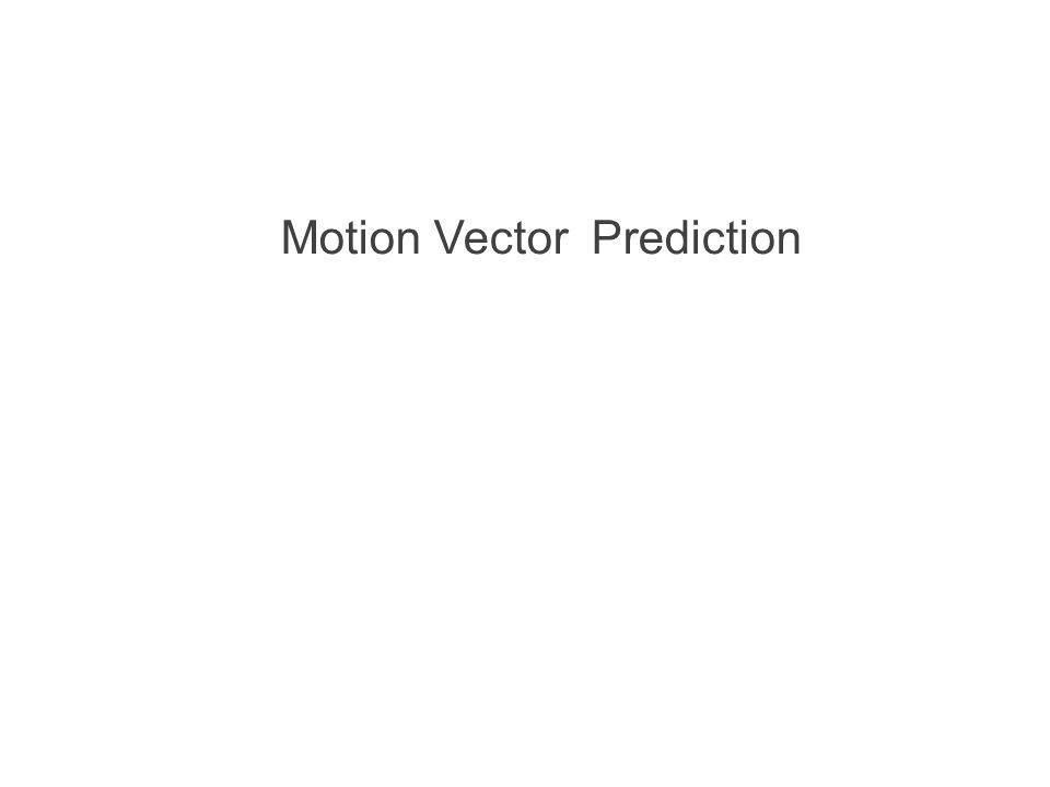 Motion Vector Prediction