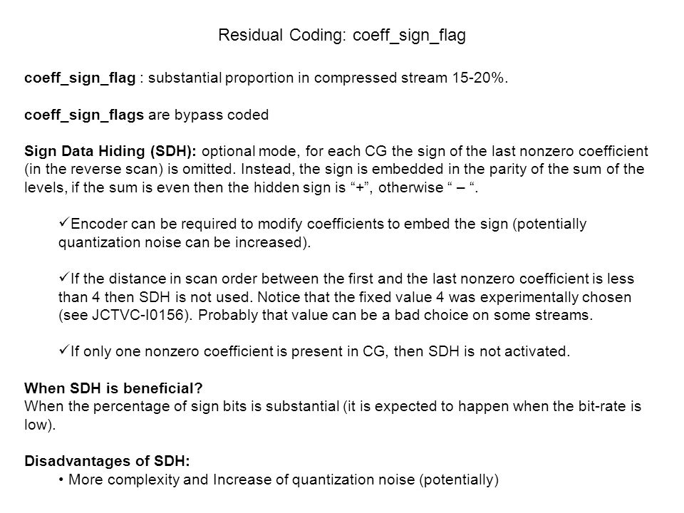 Residual Coding: coeff_sign_flag