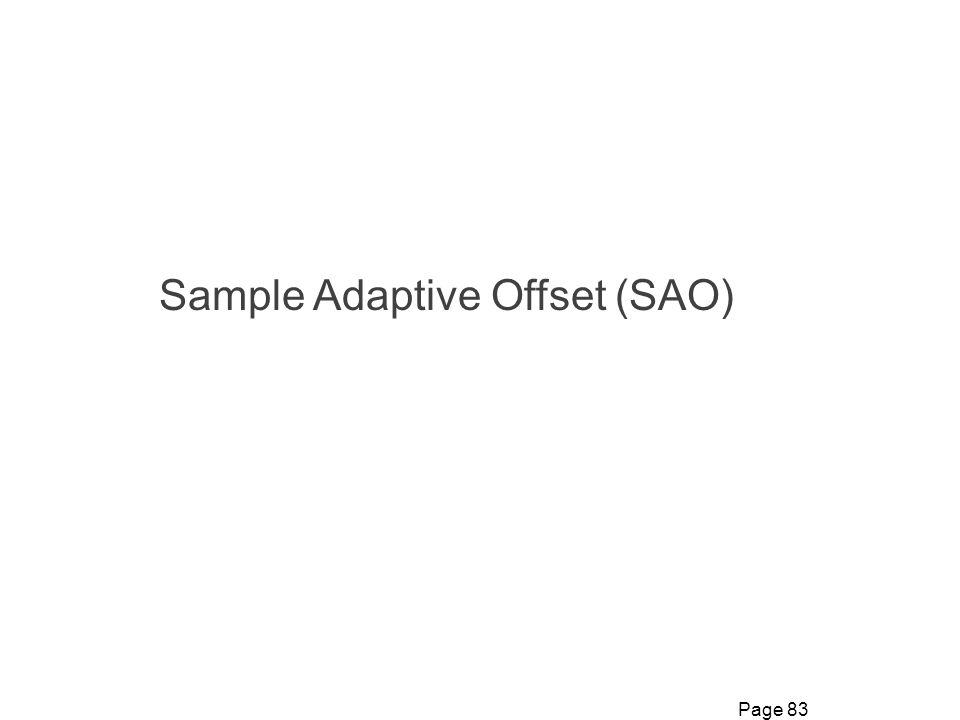 Sample Adaptive Offset (SAO)