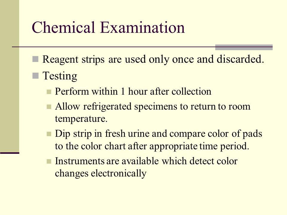Chemical Examination Testing