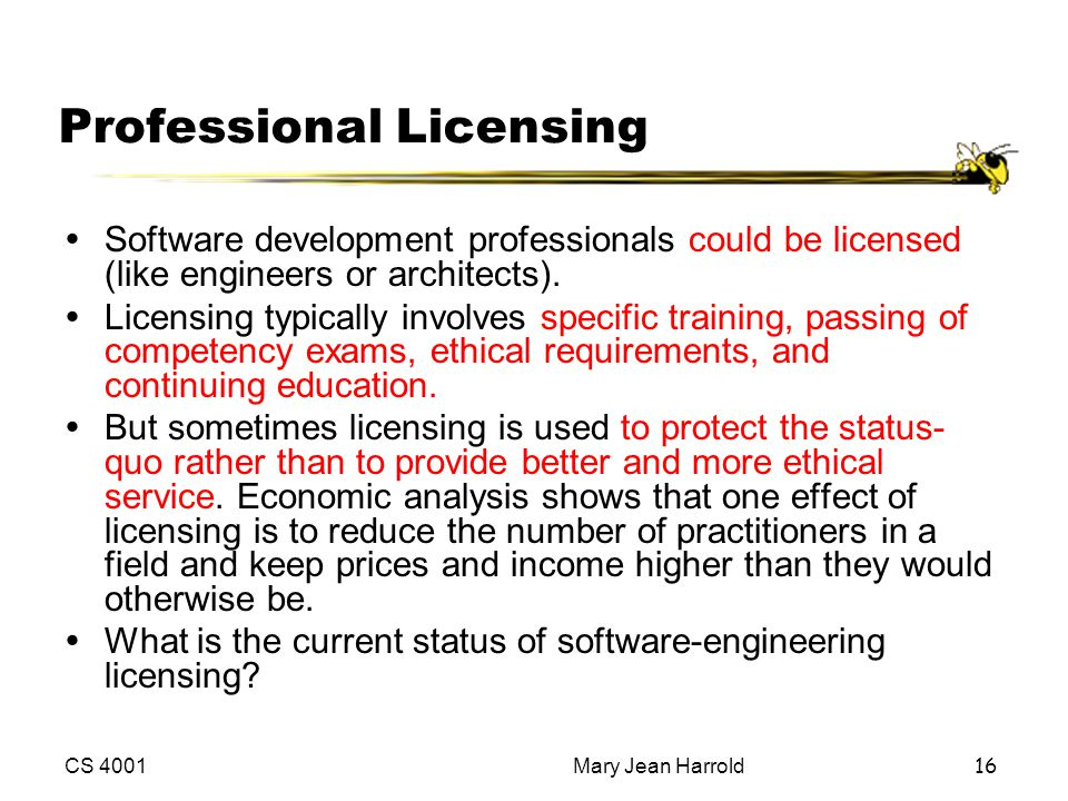 Professional Licensing