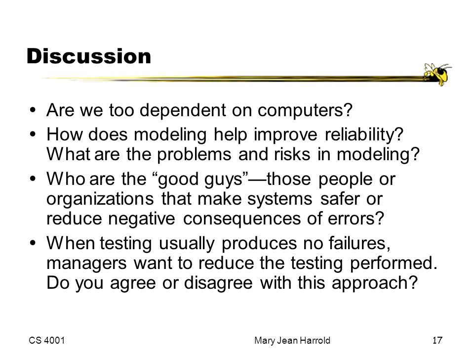 Discussion Are we too dependent on computers