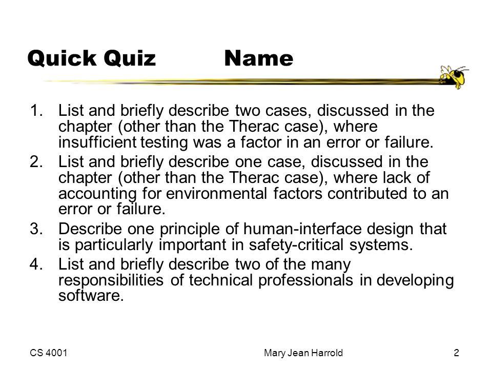 Quick Quiz Name