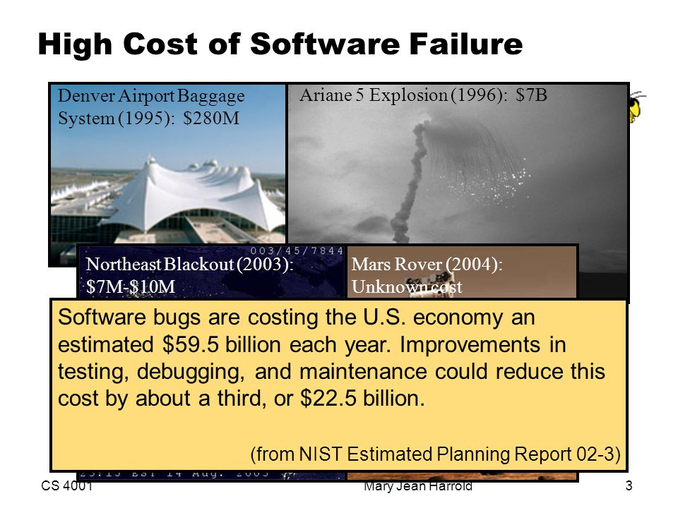 High Cost of Software Failure