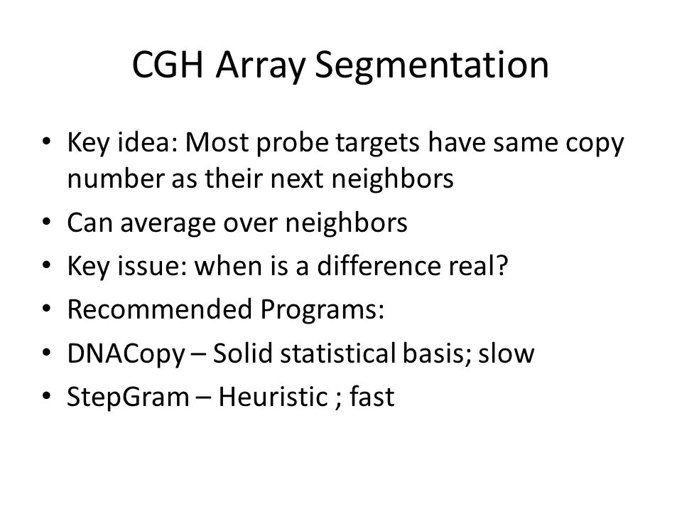 CGH Array Segmentation