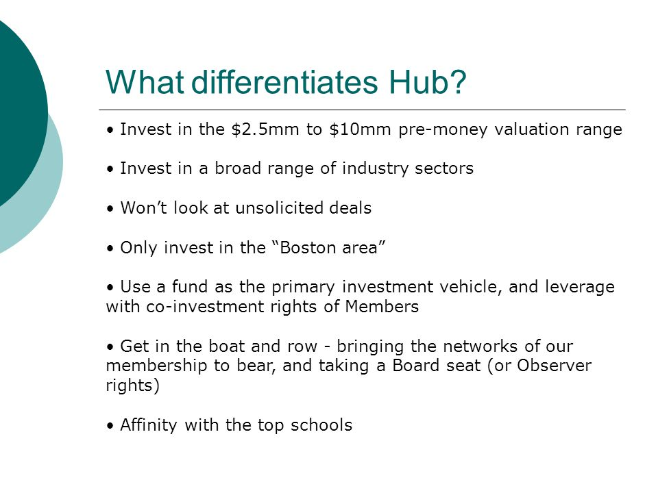 What differentiates Hub