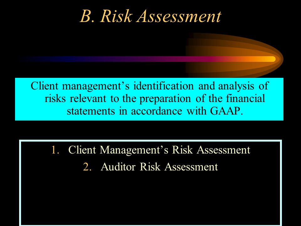 B. Risk Assessment