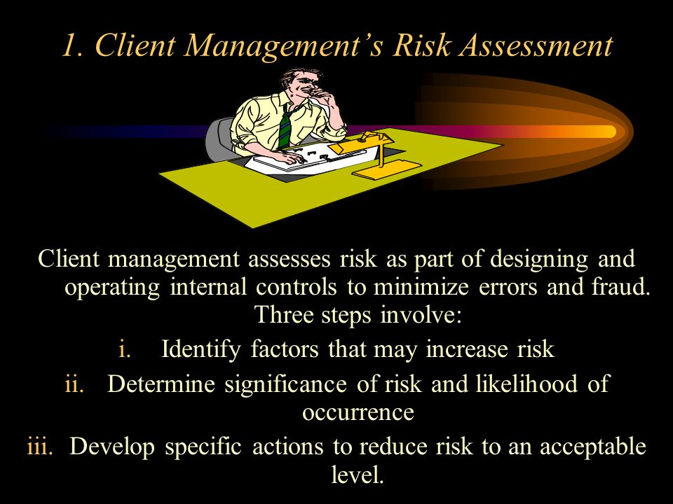 1. Client Management's Risk Assessment