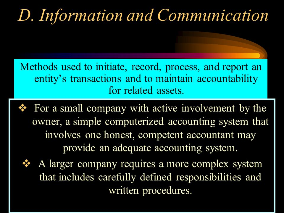 D. Information and Communication
