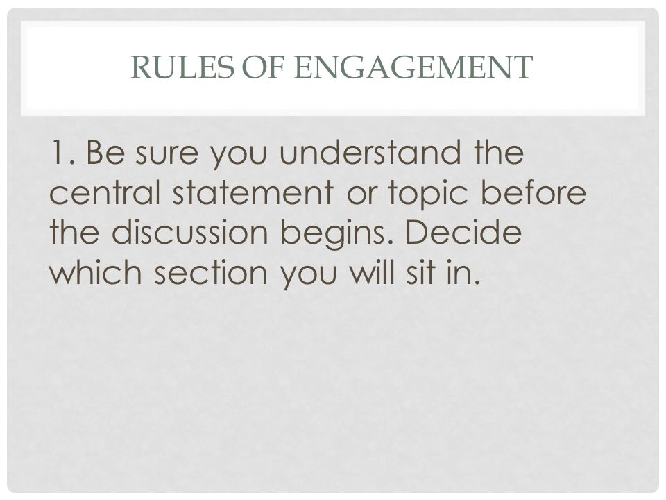 Rules of Engagement 1.