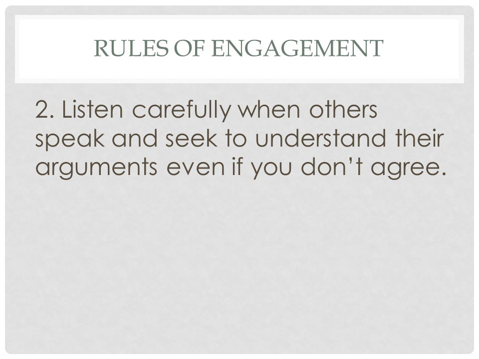 Rules of Engagement 2.