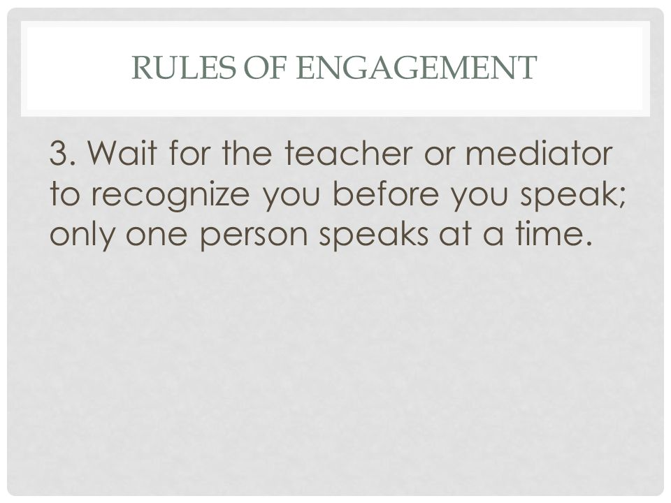 Rules of Engagement 3.