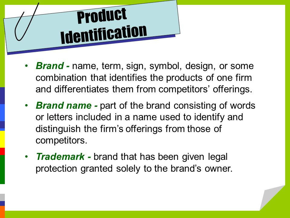 Product Identification