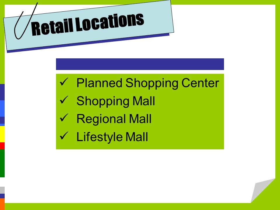 Retail Locations Planned Shopping Center Shopping Mall Regional Mall