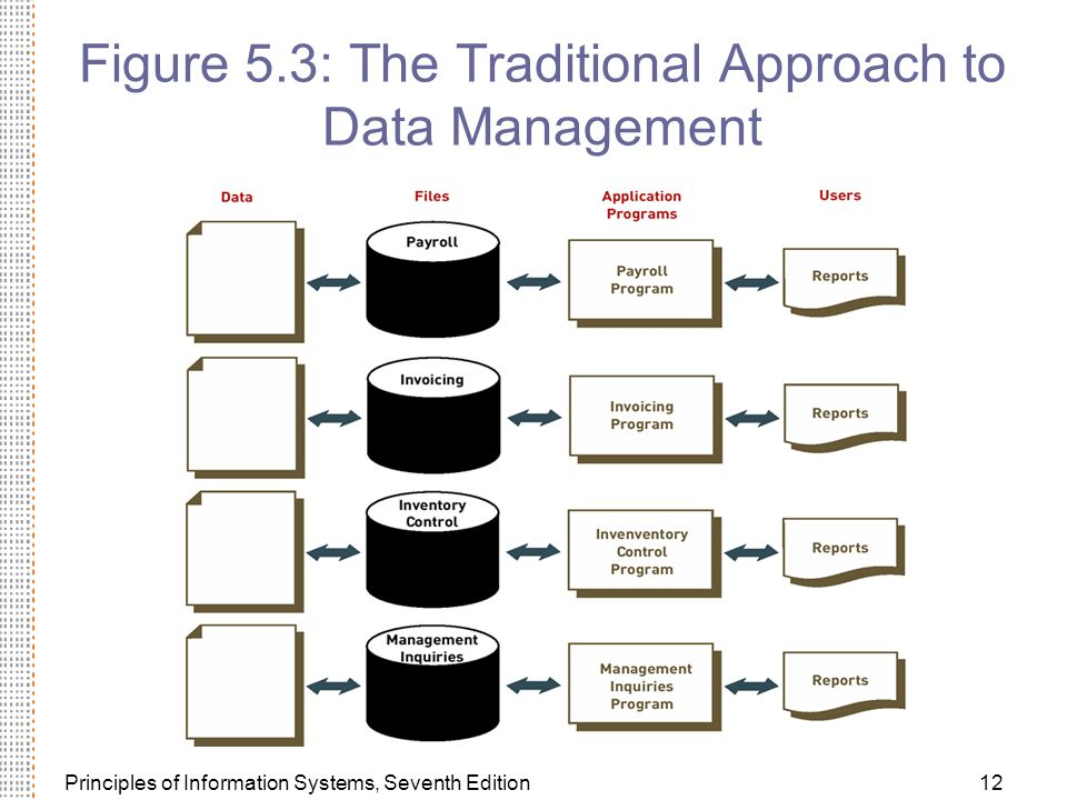 Figure 5.3: The Traditional Approach to Data Management