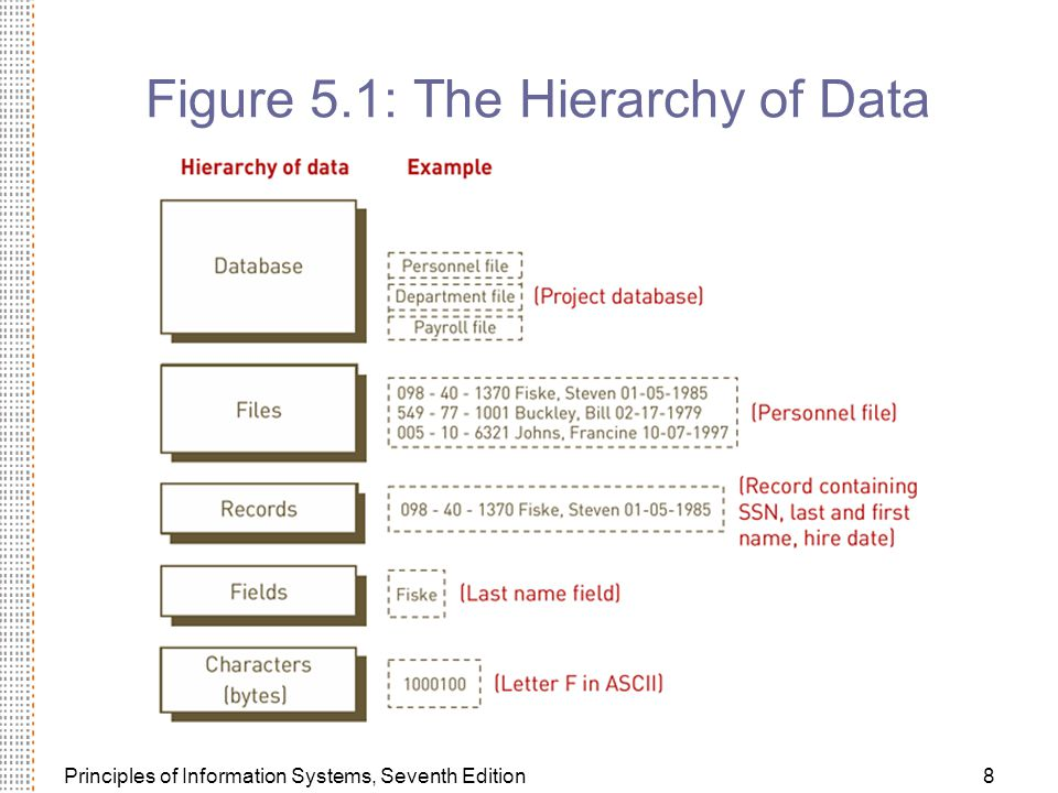 Figure 5.1: The Hierarchy of Data
