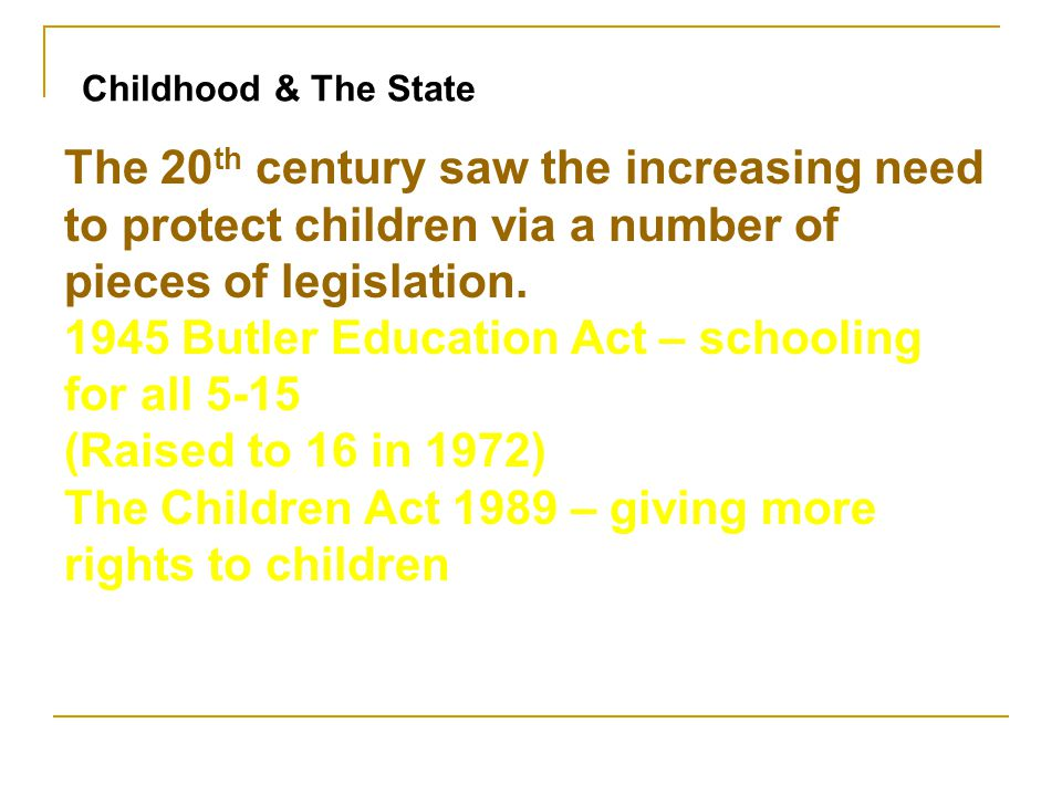 1945 Butler Education Act – schooling for all 5-15