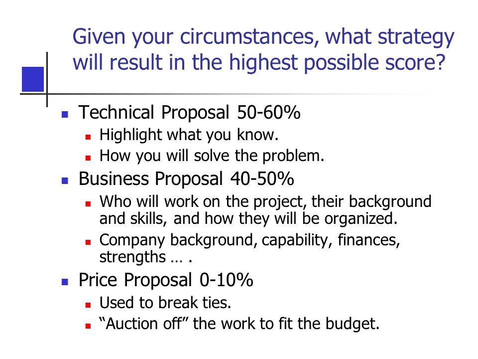 Given your circumstances, what strategy will result in the highest possible score