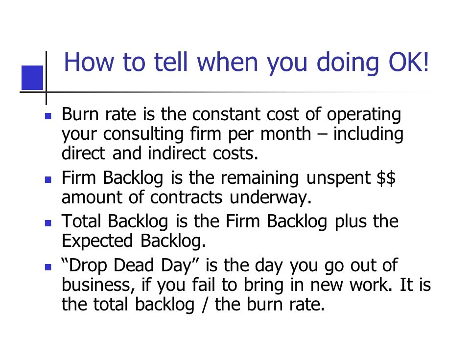 How to tell when you doing OK!