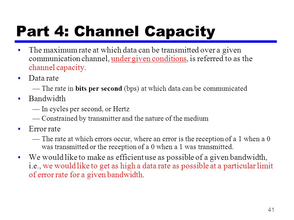 Part 4: Channel Capacity