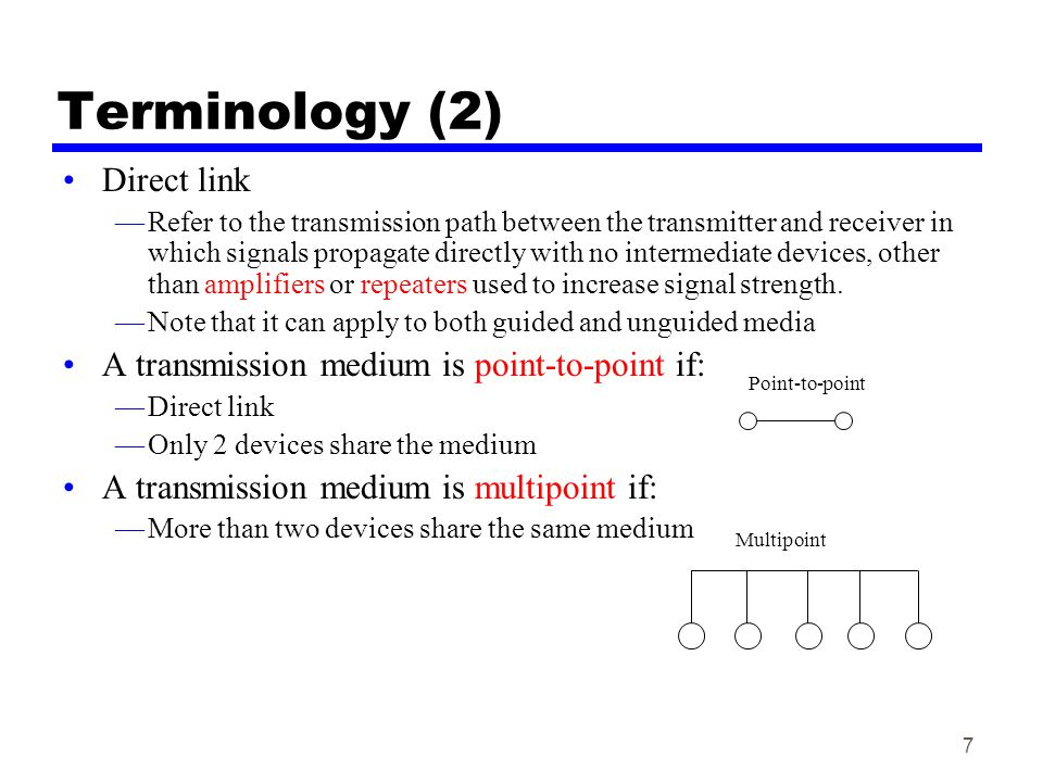 Terminology (2) Direct link