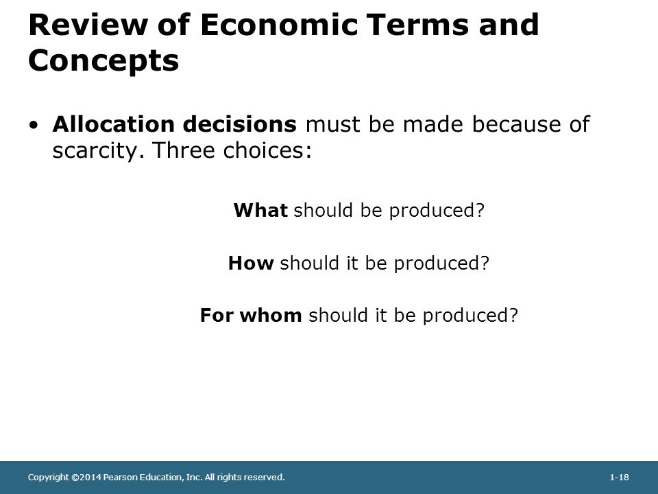 Review of Economic Terms and Concepts