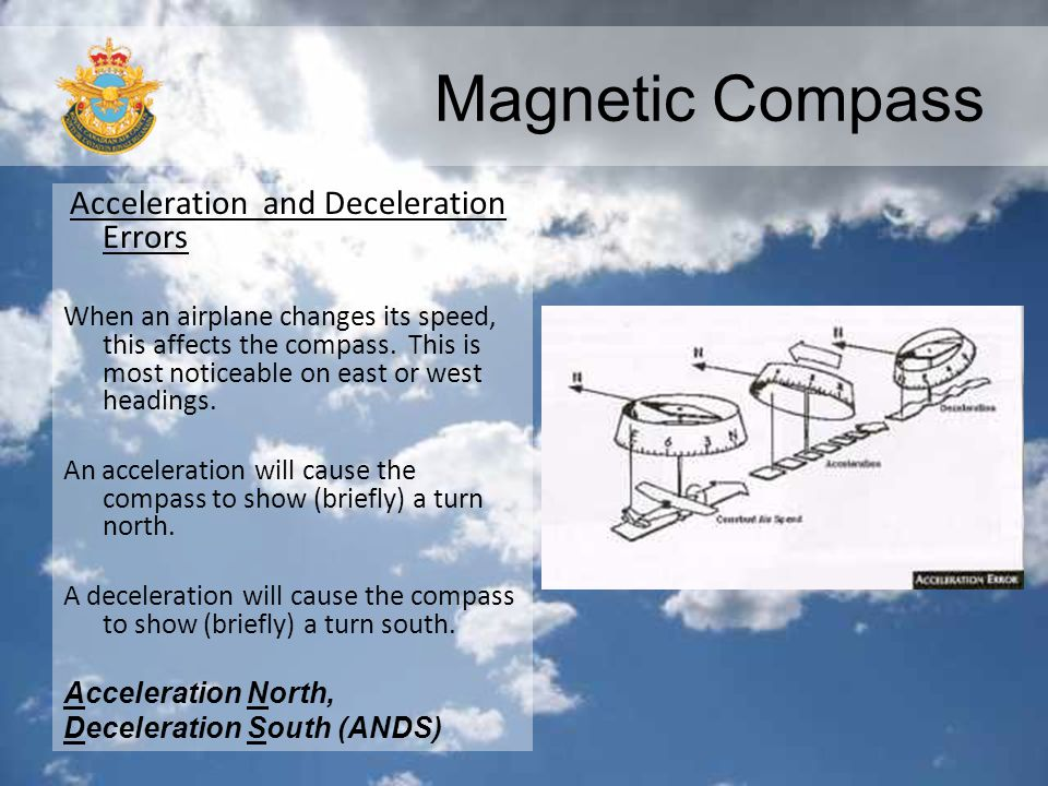 Magnetic Compass Acceleration and Deceleration Errors