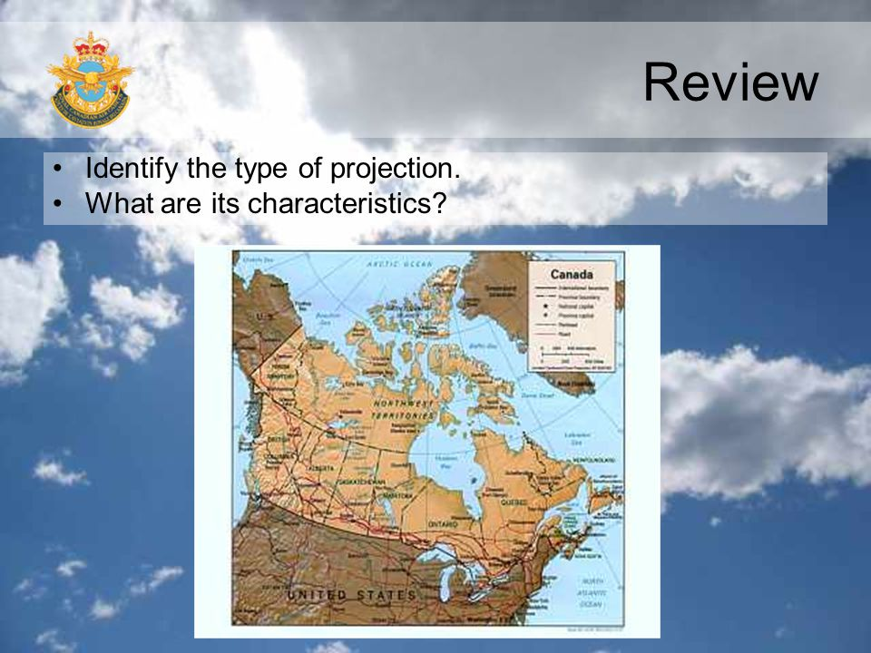 Review Identify the type of projection. What are its characteristics