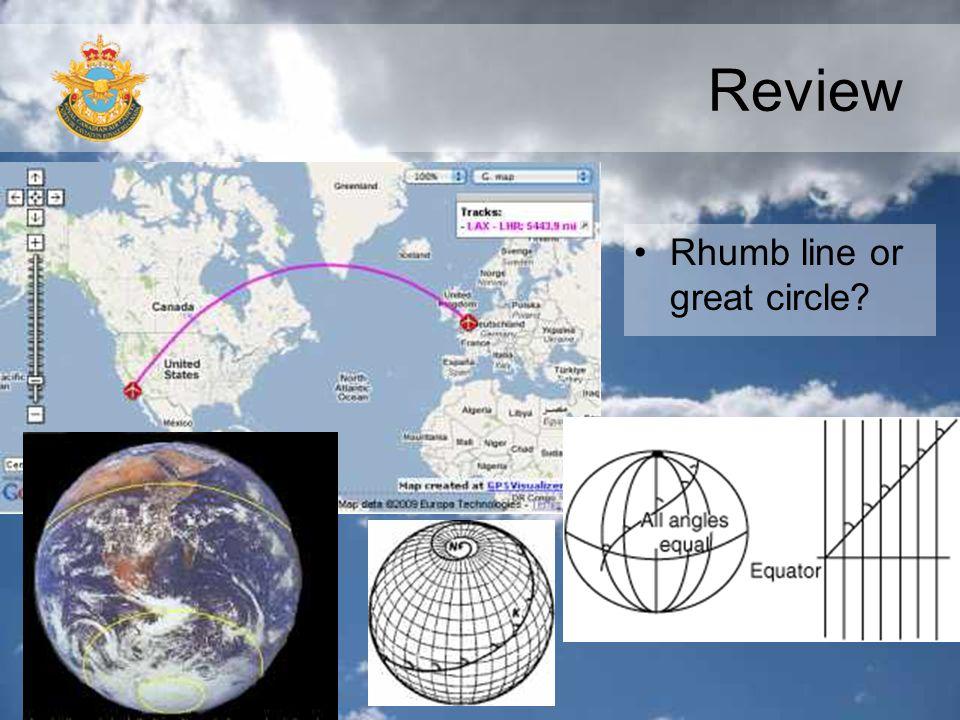 Review Rhumb line or great circle