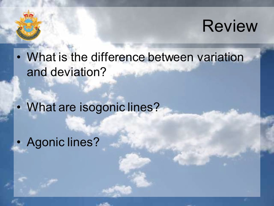 Review What is the difference between variation and deviation