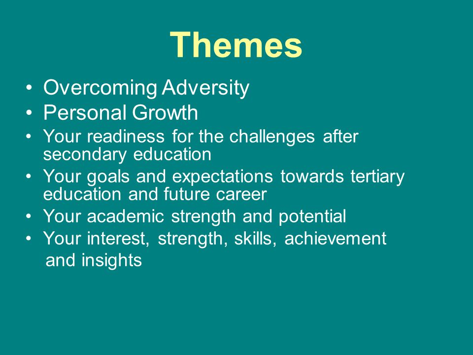 Themes Overcoming Adversity Personal Growth