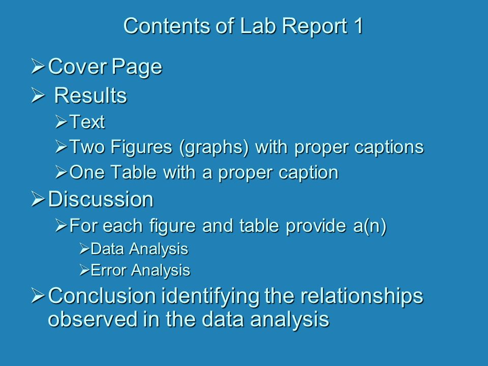 Conclusion identifying the relationships observed in the data analysis