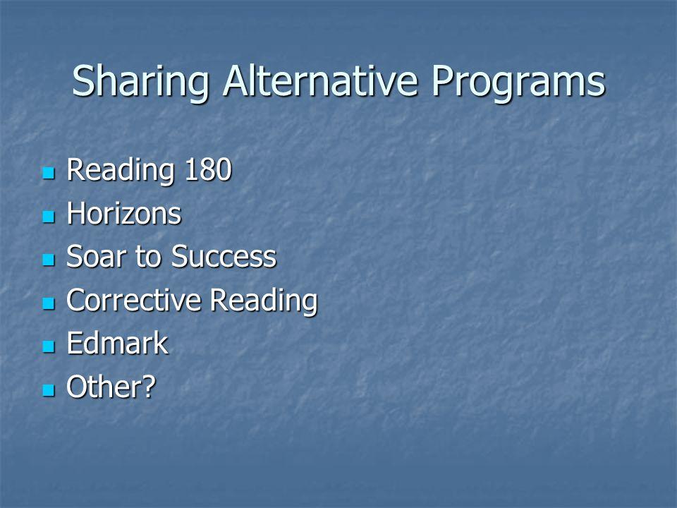 Sharing Alternative Programs