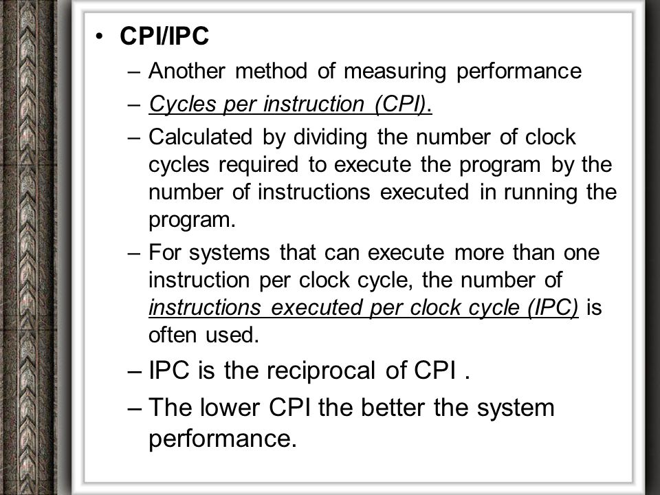 IPC is the reciprocal of CPI .