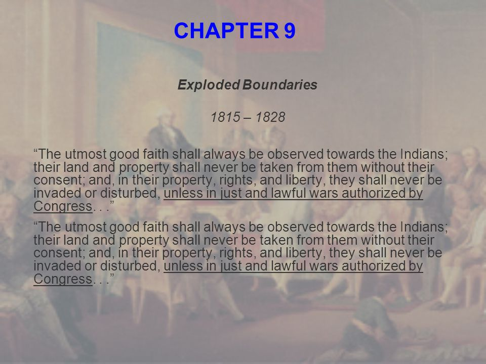 CHAPTER 9 Exploded Boundaries 1815 – 1828